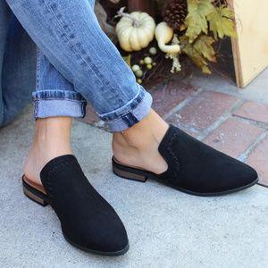 Shoes - 🆕️//The Meadow// Black vegan suede Mule/Flat